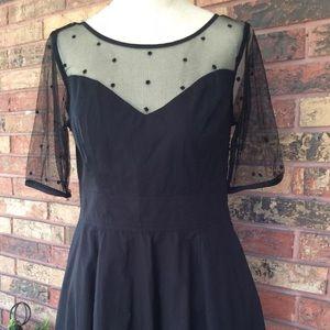 Eshakti GRACE M 10 Black Dress Swiss Dot Pockets